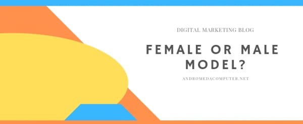 Is it important to use female or male models in social media campaigns?
