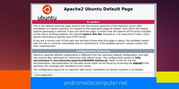 Ubuntu:  How to install Apache